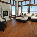 Living Room with a Maple hardwood floor in Toffee stain. Sweet Memories Series.