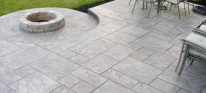 ... Poured Concrete Patio Cost By Stamped Concrete Patio Nh Ma Me Ideas  Pavers Cost ...